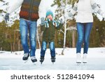 happy family on ice rink | Shutterstock . vector #512841094