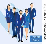 business men and women... | Shutterstock . vector #512843110