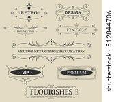 vector set of calligraphic... | Shutterstock .eps vector #512844706