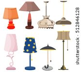 lamps furniture set light... | Shutterstock .eps vector #512846128