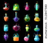 Sixteen Isolated Colorful Magi...