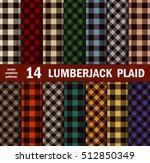 set of lumberjack plaids... | Shutterstock .eps vector #512850349