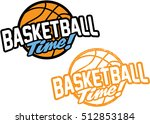 basketball time  sports stamp | Shutterstock .eps vector #512853184