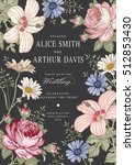 wedding invitation. beautiful... | Shutterstock .eps vector #512853430