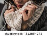 warm scarf in the winter   Shutterstock . vector #512854273