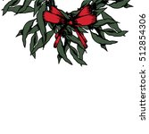 isolated christmas wreath.... | Shutterstock .eps vector #512854306