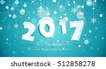happy new year 2017 text design.... | Shutterstock .eps vector #512858278