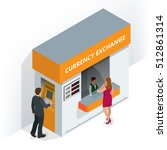 currency exchange booth.... | Shutterstock .eps vector #512861314
