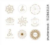 vector boho yoga patterns on... | Shutterstock .eps vector #512863114