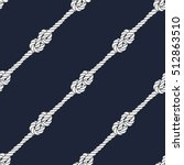 seamless nautical rope pattern. ... | Shutterstock .eps vector #512863510