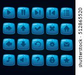 set of cartoon blue vector...