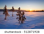 beautiful winter landscape in... | Shutterstock . vector #512871928