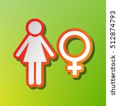 female sign illustration....