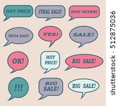 sale speech bubbles. . talk... | Shutterstock .eps vector #512875036