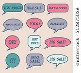 sale speech bubbles. . talk... | Shutterstock .eps vector #512875036