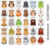 vector set of animal and bird... | Shutterstock .eps vector #512876860