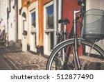 vintage bicycle in copenhagen ...   Shutterstock . vector #512877490