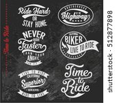 vintage biker graphics and... | Shutterstock .eps vector #512877898