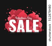 valentine's day sale. letters... | Shutterstock .eps vector #512878480