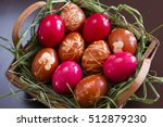 romanian traditional easter eggs | Shutterstock . vector #512879230