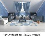 children's room design in... | Shutterstock . vector #512879806