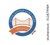 bridge connection logo for your ... | Shutterstock .eps vector #512879989