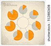 pie charts infographic arranged ... | Shutterstock .eps vector #512882608