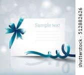 blank white greeting cardboard...   Shutterstock .eps vector #512882626