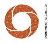 turkish bagel icon | Shutterstock .eps vector #512883310