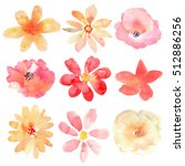 floral set. collection with... | Shutterstock . vector #512886256