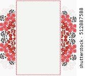 invitation or wedding card... | Shutterstock .eps vector #512887588