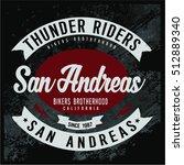 vintage biker graphics and... | Shutterstock .eps vector #512889340