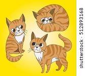 cute ginger tabby kitten in a... | Shutterstock .eps vector #512893168