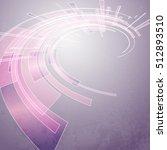 techno vector circle abstract... | Shutterstock .eps vector #512893510