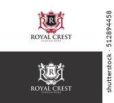 royal crest logo in vector | Shutterstock .eps vector #512894458