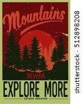 vintage vector of wilderness...   Shutterstock .eps vector #512898208