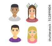 group people nationality race... | Shutterstock .eps vector #512899804