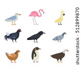 birds vector set | Shutterstock .eps vector #512899870