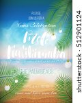 hawaiian party template ... | Shutterstock .eps vector #512901124