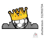 Soccer Ball With Golden Crown...
