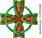 celtic cross in celtic knot...   Shutterstock .eps vector #512905648