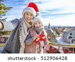 winter wonderland in barcelona...   Shutterstock . vector #512906428