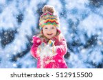 Child Running In Snowy Forest....