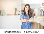 cute female latin business...   Shutterstock . vector #512926564