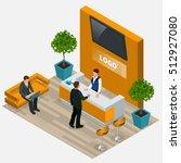 customer at reception.... | Shutterstock .eps vector #512927080