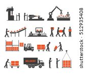 icons production lines of the... | Shutterstock .eps vector #512935408