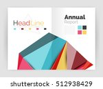 low poly annual report template | Shutterstock . vector #512938429