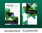 business annual report cover... | Shutterstock . vector #512939194