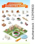 build your own isometric city.... | Shutterstock .eps vector #512939833