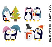 Penguin Set Vector Illustratio...
